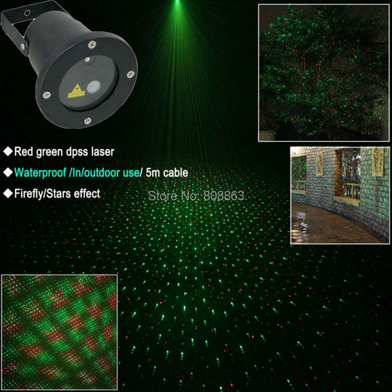 New R&G Waterproof Outdoor Holiday Laser Projector Landscape Stationary Full Stars Pattern Garden Home Xmas Wall Tree Light B182
