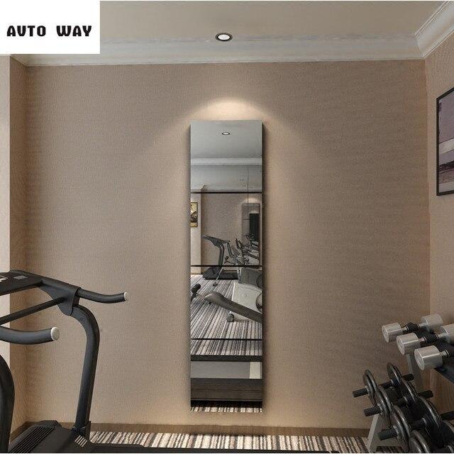 US $12.16 24% di SCONTO|Creativo specchio Quadrato 3D autoadesivi della  parete 2mm soggiorno camera da letto ingresso TV sfondo Della Decorazione  ...