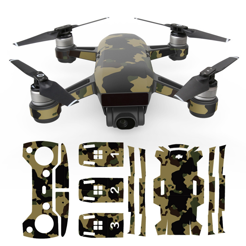MASiKEN PVC Waterproof Sticker Decals Skin Protector For DJI Spark Drone