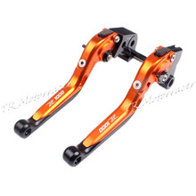 Adjustable Brake Clutch Levers For Kawasaki Z1000 2007 2016 2009 2010 2014 Folding Extendable Aluminum Black With Orange