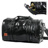 2018 Men PU Leather Gym Bag Women Shoulder Bags Sports Handbag Crossbody Bags For Travelling Training Storage Shoes XA517WD
