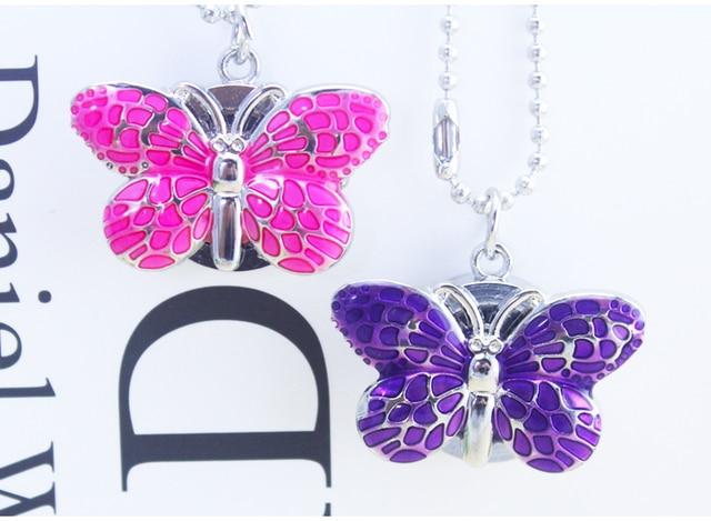 Brand New Fashion  Butterfly Pocket Pendant Necklace Chain Quartz Dress Watch Y489