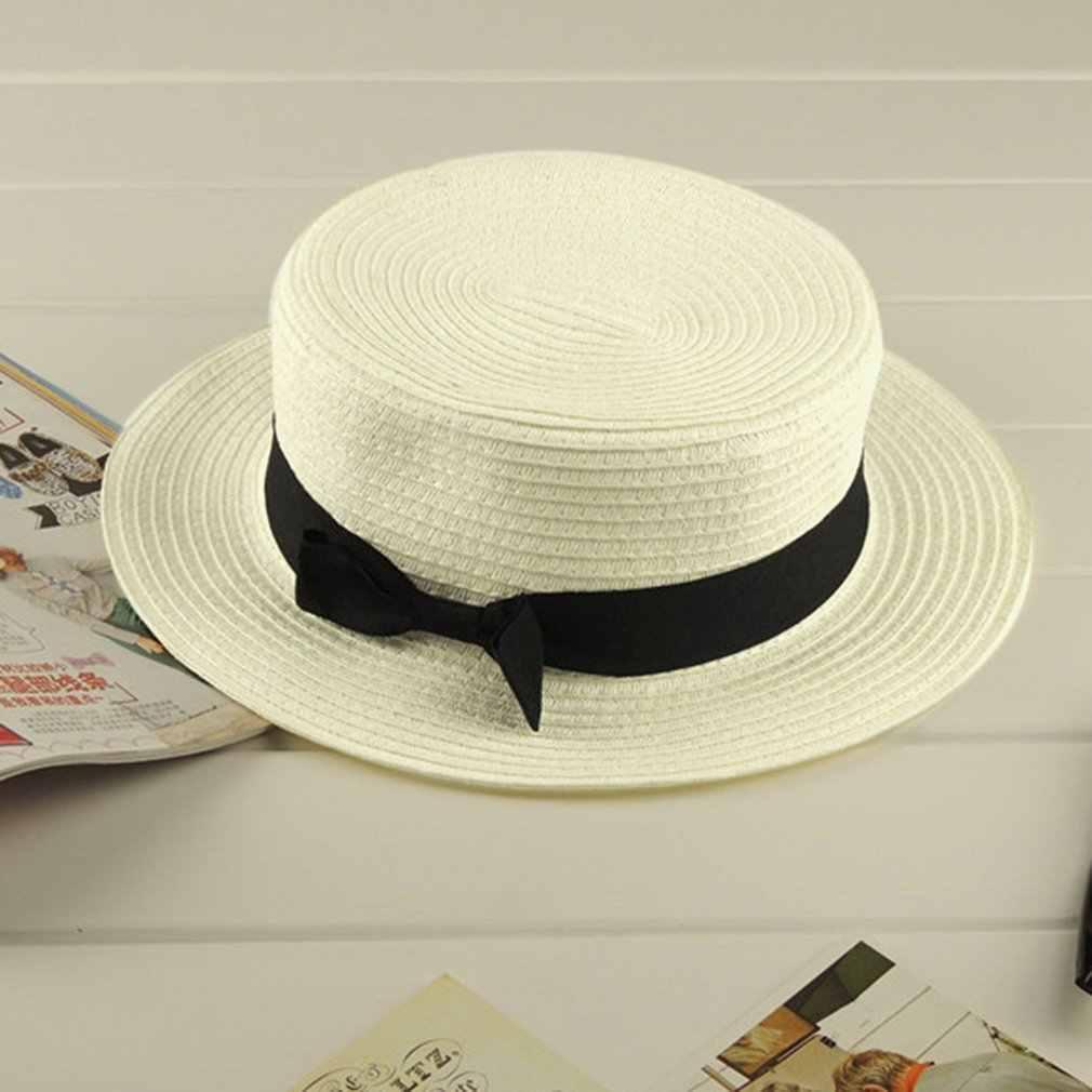 2737e849a04 ... Parent-child Summer Hat 13 Color Women Children Beach Holiday Hat Sun  Straw Femal Sunscreen ...