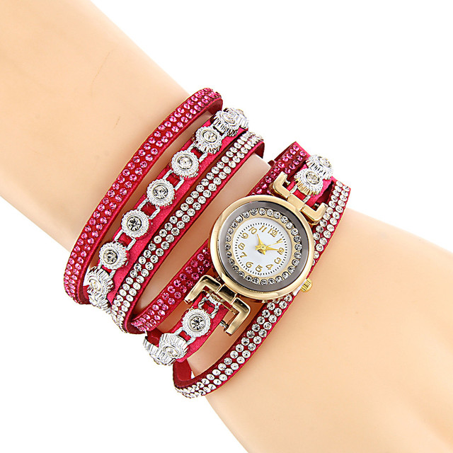 2018 New Ladies Women Fashion Casual Creative Analog Quartz Women Rhinestone Wat