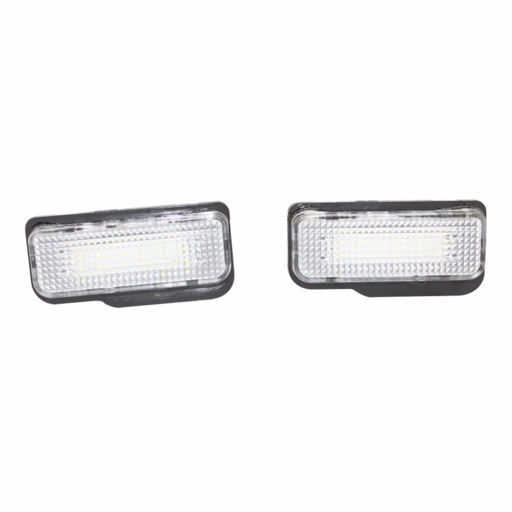 2pcs 18SMD LED Error Free Number License Plate Light Car Bulbs Auto Rear Lamp Accessories For Mercedes Benz W203 W211 W219 WAGON 10pcs error free led lamp interior light kit for mercedes for mercedes benz m class w163 ml320 ml350 ml430 ml500 ml55 amg 98 05