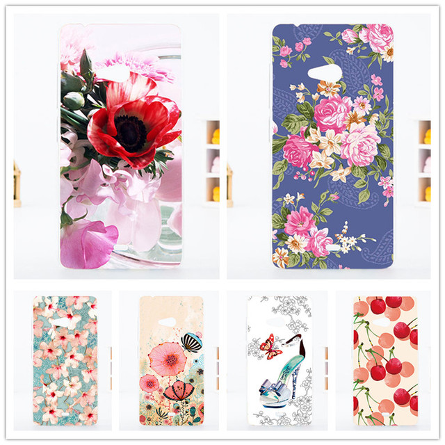 Fashion DIY Painted Case 10 Styles Design case covers FOR Microsoft nokia Lumia 540 Phone back case for Nokia 540