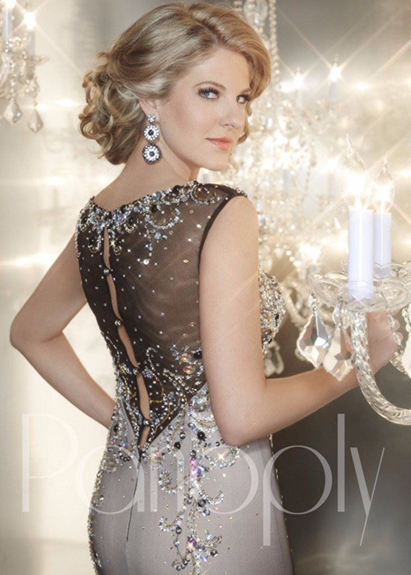 Sexy Designer Long Evening Gowns Crystals Beaded Evening Dresses ...