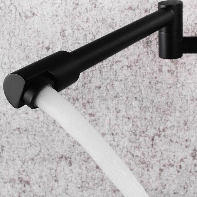 Robinet de cuisine mural robinets muraux simples à froid robinet d'eau pliant à 360 degrés ELK0024 - 4