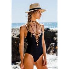 KayVis One Piece Swimsuit 2018 Sexy Swimwear Women Bathing Suit Swim Vintage Summer Beach Wear Print Bandage Monokini Swimsuit