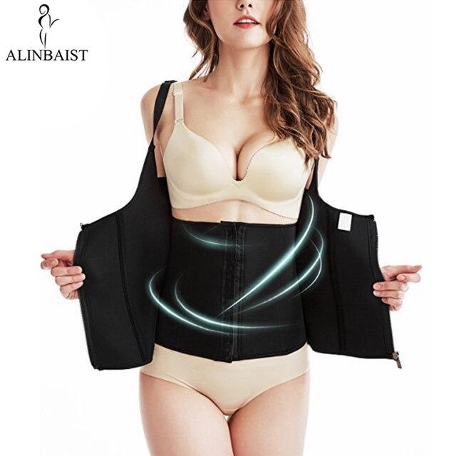 a4976ee2bb4 Women s Waist Trainer Cincher Sweat Vest Sauna Corset Tummy Control  Shapewear Adjustable Straps Body Shaper Slimmer Plus Size