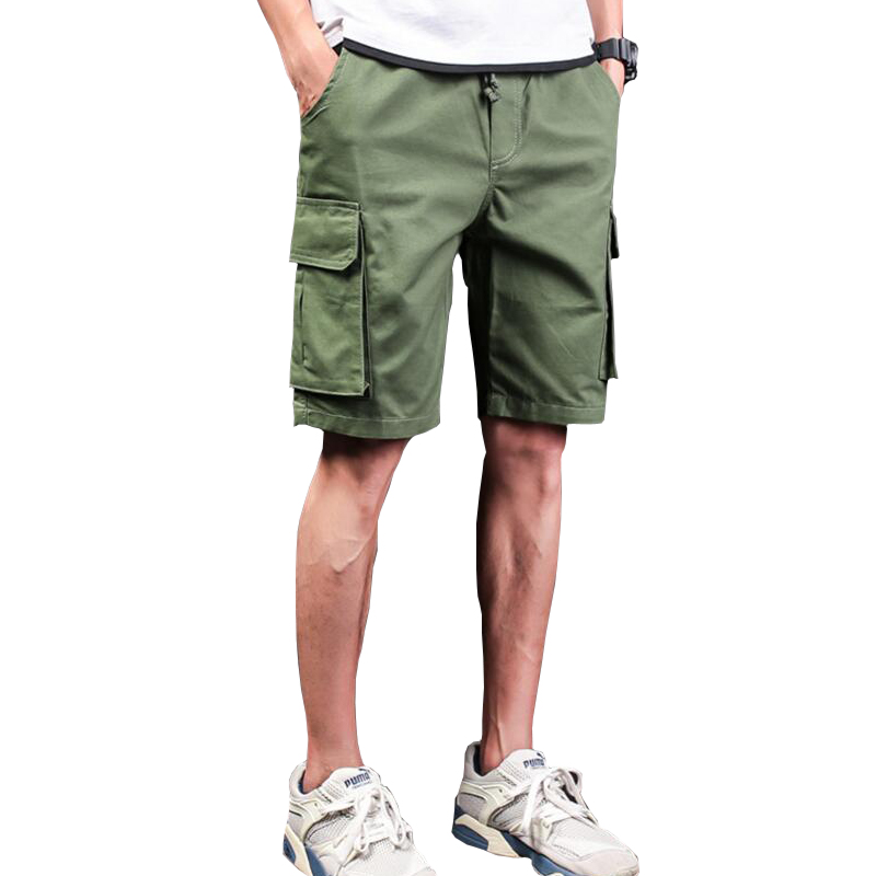 High Quality 2018 Mens Casual Cargo Shorts Summer Style Men Military Tactical Shorts Knee Length Loose Shorts Plus Size M~XXXL