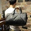 New high quality PU leather men's travel bags fashion bucket handbags shoulder bag big volume men business luggage bag