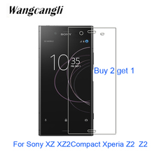 Buy 2 get 1 For Sony XZ2 Xperia Z2 XZ2Compact Premium glass 2.5D Tempered Glass For Sony XZ Screen Protector Protective glass 9H protective clear screen protector film guard for sony xperia z2 transparent 2 pcs