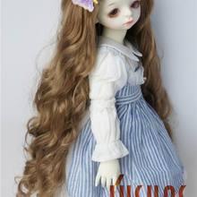 JD435 1/4 1/3 Pretty long BJD синтетический, мохеровый, для куклы парики в размере 7-8 дюймов 8-9 дюймов 9-10 дюймов и 11-12inh куклы аксессуары