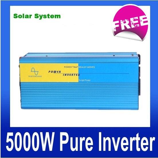 цена на PV Solar Inverter 5000W 48/96VDC 110/220VAC, CE certificate, Pure sine wave inverter,Power inverter, Car Inverter Converter