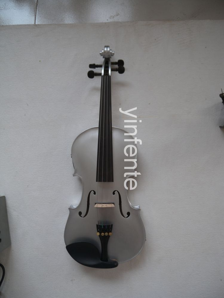 New 4 string 4/4 Electric Acoustic Violin patent silent fine sound #1 4 4 high quality 5 string electric violin yellow 2 pickup violin