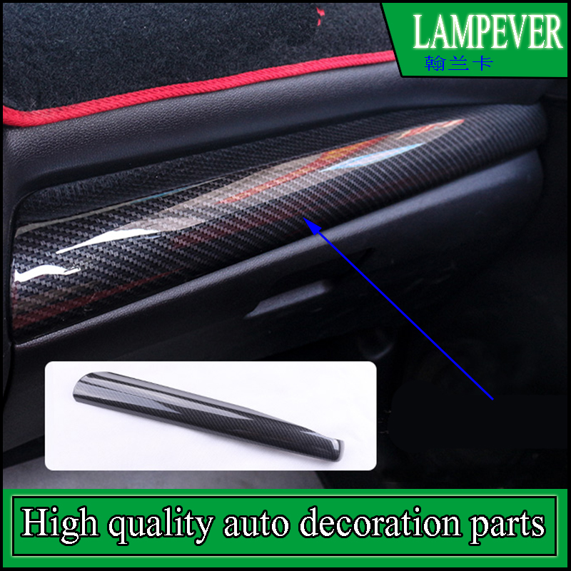 Car styling Interior ABS Carbon Console Center Dashboard Cover Trim Sticker Fit For Honda Fit Jazz 2014-2016 GK5 Left Hand Drive for left hand drive car styling interior matte center console decoration cover 3 for mazda cx 5 cx5 2nd gen 2017 2018