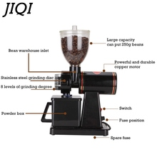 JIQI FREE SHIPPING Electric Coffee Grinder Machine 220V/110V coffee Milling Grinder household coffee grinder mill Capacity 250g