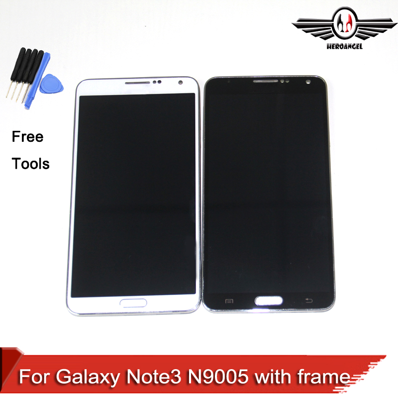LCD For samsung galaxy note 3 N9005 LCD display Touch Screen Digitizer assembly With frame free shipping replacment lcd for samsung for galaxy s4 i9505 lcd display touch screen digitizer frame assembly one piece free shipping