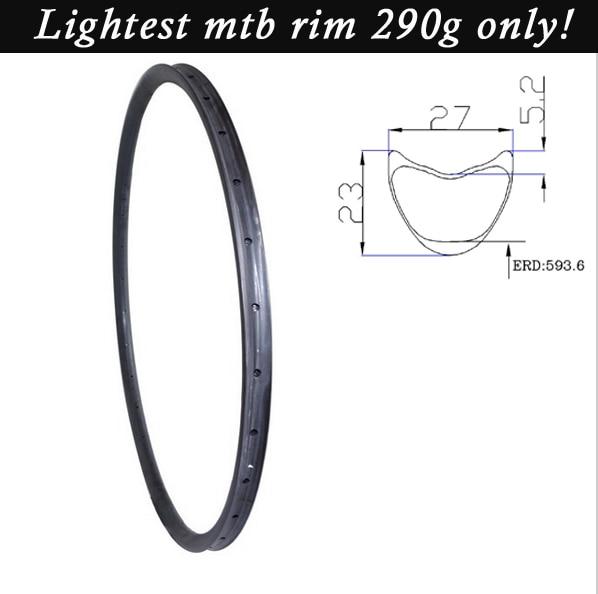 Ultralight ruote carbon mtb wheel 29 inch 27er mountain font b bike b font rims 27X23mm