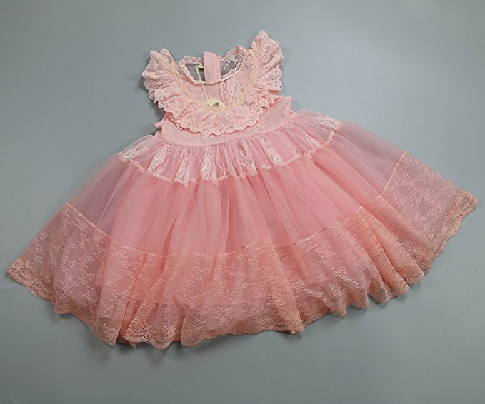 2017 vestido de encaje de las niñas tutu rosa volantes bordados - Ropa de ninos - foto 5