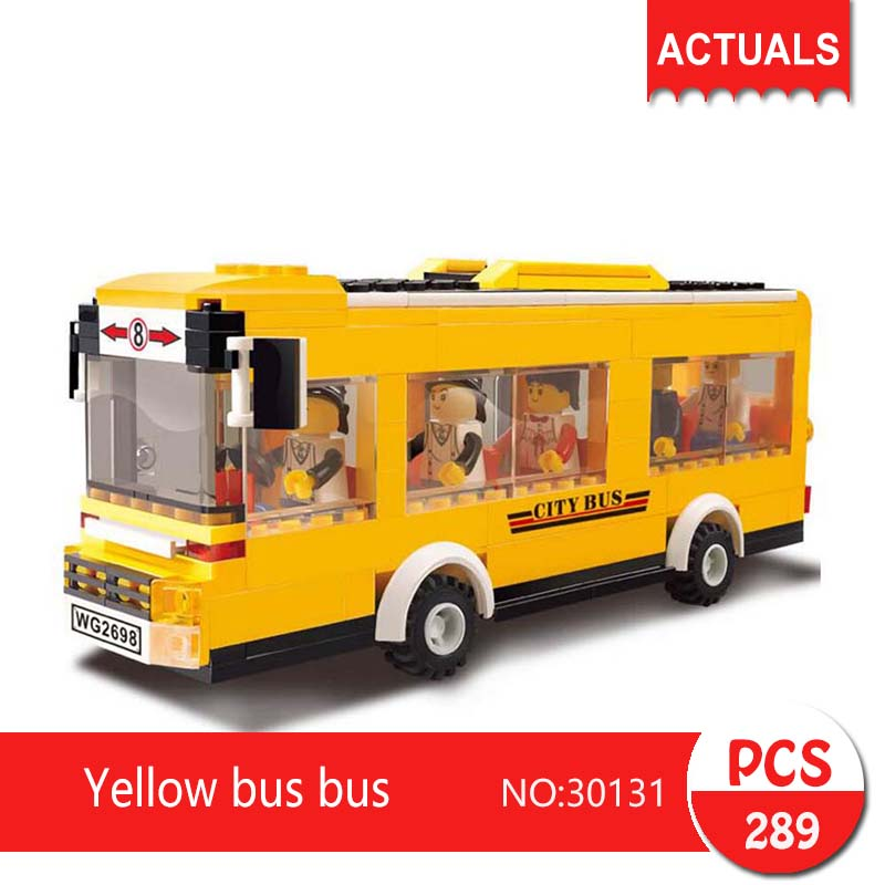 Lepin 30131 289Pcs City series Yellow bus bus Model Building Blocks Set  Bricks Toys For Children wange  Gift Educational toys 1710 city swat series military fighter policeman building bricks compatible lepin city toys for children