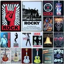[SQ-DGLZ] rock & music metal sign bar decoração da parede estanho sinal de metal vintage sinais de decoração para casa pintura placas arte cartaz