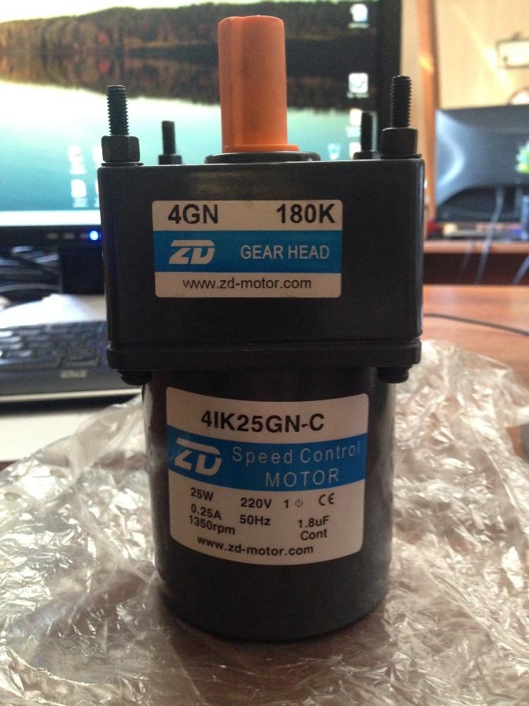 все цены на Gear Motor 25W motor AC220-240V case Size 80x80mm 1Ph 220V 50 Hz gear ratio 180:1 онлайн