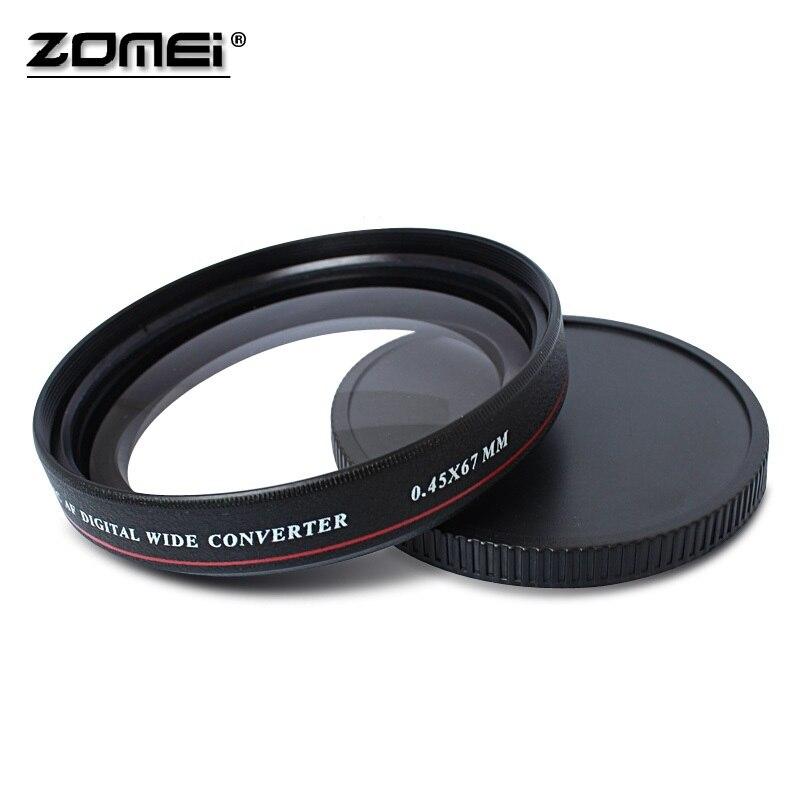 ZOMEI Ultra Slim UV72 40.5mm 49mm 52mm 55mm 58mm 62mm 67mm 72mm 77mm 0.45x Angle Filtre Objectif pour Nikon Canon SLR caméra