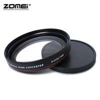 ZOMEI Ultra Slim UV72 40.5mm 49mm 52mm 55mm 58mm 62mm 67mm 72mm 77mm 0.45x Geniş Açı Lens Filtre Nikon Canon SLR için kamera
