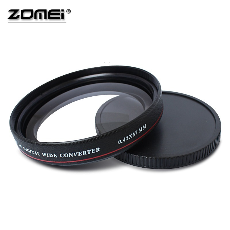 ZOMEI Ultra Slim UV72 40.5mm 49mm 52mm 55mm 58mm 62mm 67mm 72mm 77mm 0.45x Wide Angle Filter Lens for Nikon Canon SLR Camera