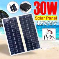 LEORY 30W Foldable Solar Panel Folding Solar Cell Module DC for Car Yacht Led Light RV 12V Battery Boat Outdoor Charger