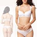 2015 Новая мода Кружева Сексуальные Комплекты Бюстгальтера Женщины Push Up bra и стринги Черный Белый Белье Комплекты белья