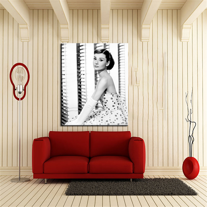 Audrey Hepburn Dress Poster Wall Painting For Home Decor