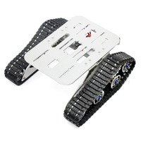 4WD Metal Tank Smart Intelligent Crawler Robotic Chassis For DIY RC Robot Car Spare Parts 210x140x75mm F22502