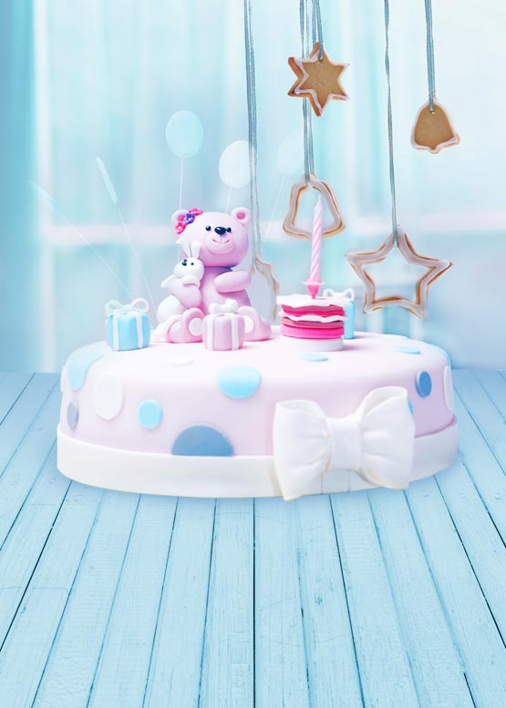 Customize washable wrinkle free cute bear cake photography backdrops for birthday kids photo studio portrait backgrounds S-948 photography children s background birthday cake gift present greeting photocall customize cute studio photo prop