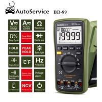 Digital Multimeter 20000 Counts Auto Range DC AC Resistance Capacitance Peak Hold True RMS NCV Diode Tester Mini Tester BD 99