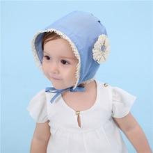 Nová krásná krajka Big Flower Net Edge Divoká princezna Hat Bavlna Baby Tire Cowboy Cap