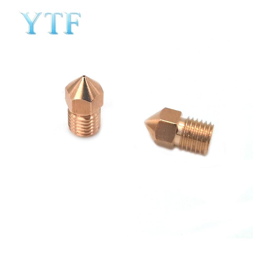 3D Printer Parte General 8m Copper Nozzle M8 * 1 Threaded Copper Nozzle Nozzle 0.4mm
