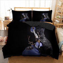 Black Cat Bedding Set Twin Full Queen King sizes Duvet Cover set for children Kids polyester Bedclothes bed linens set new(China)