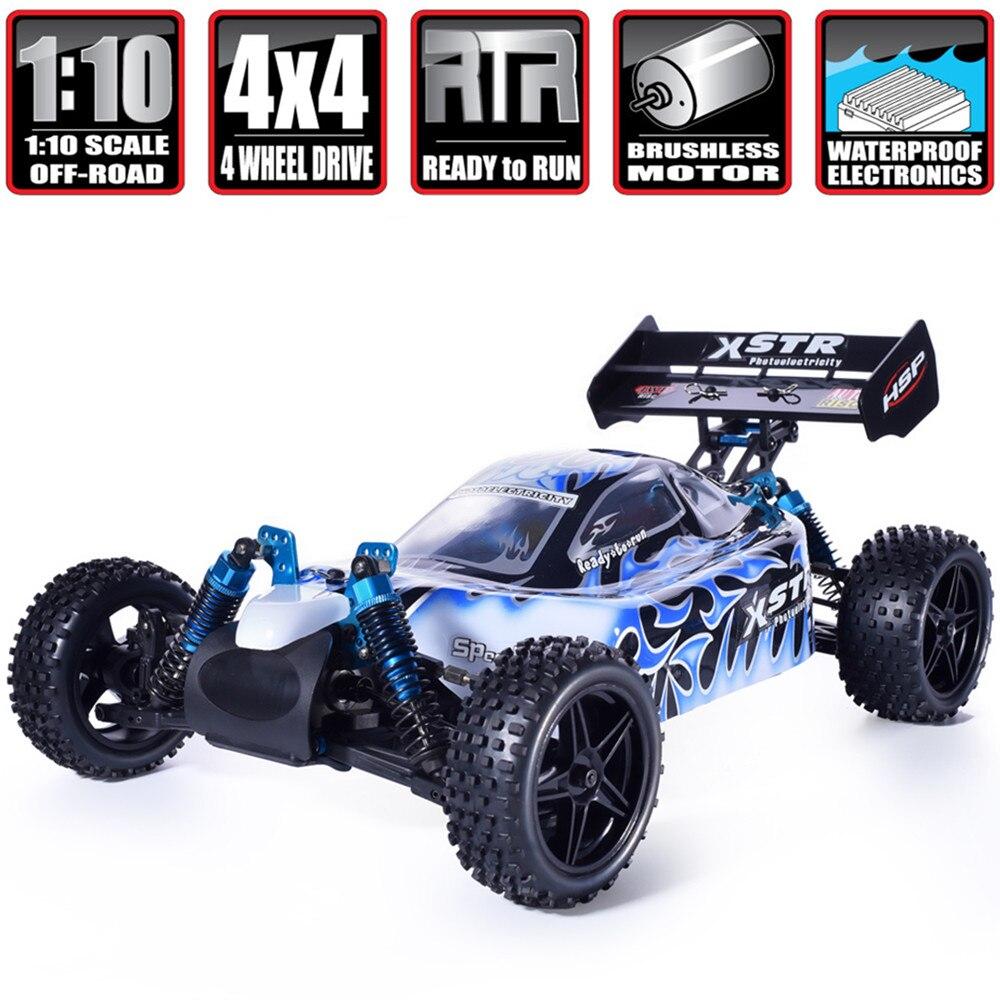 HSP Rc автомобиль 1:10 4wd игрушечные лошадки внедорожных багги 94107PRO Электрический мощность бесщеточный двигатель Lipo батарея высокое Скорость х