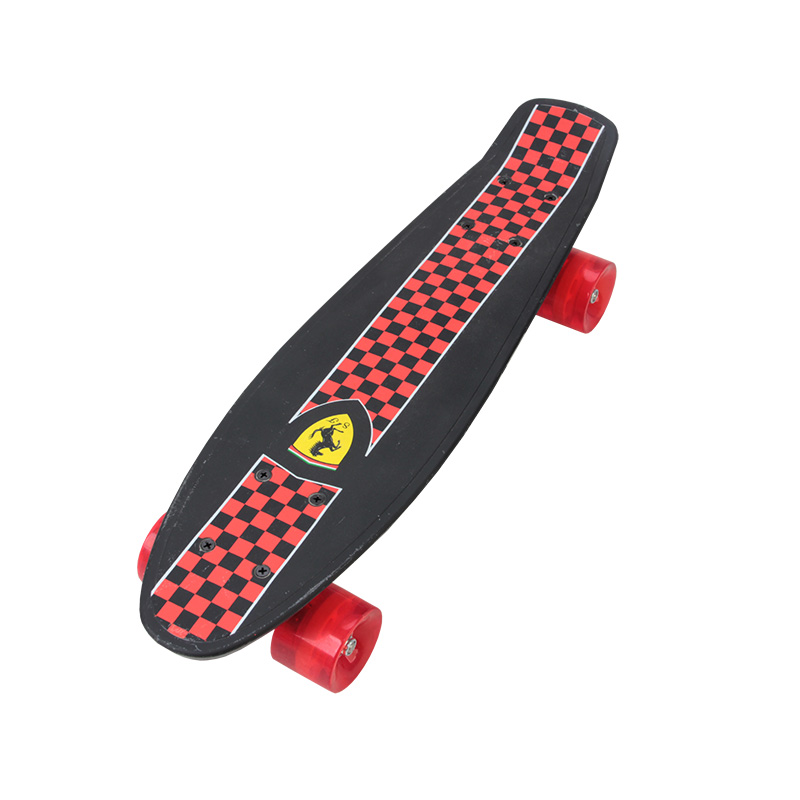 Ferrari Child Four-Wheel Double Cruiser Skateboard Flip Skate Board For Kids Boy Max Loading 50kg