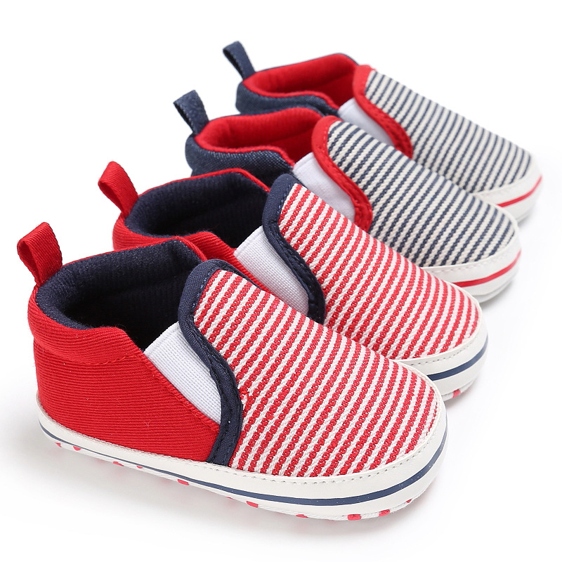 New Fall Striped Style Baby Moccasins Shoes Soft Rubber Sole Baby Boys Shoes First Walkers Baby Loafter Shoes