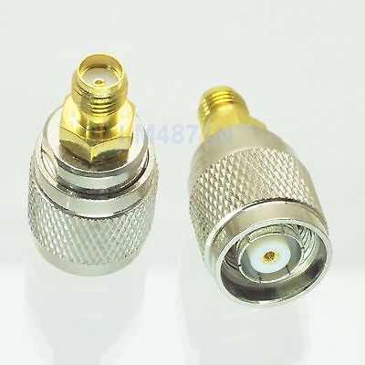 1pce Adapter RP.TNC jack male to SMA female jack RF connector straight M/F 1pc adapter n plug male nickel plating to sma female gold plating jack rf connector straight