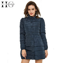 HEE GRAND Long Skirt Thin Warm Winter Jacket Women 2016 Bow White Duck Down Stand Collar Single Breasted Solid Woman Coat WWY298