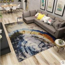 Simple modern silk wool carpet thickening living room cushion coffee table bedroom mat bedside blanket sofa yoga rug