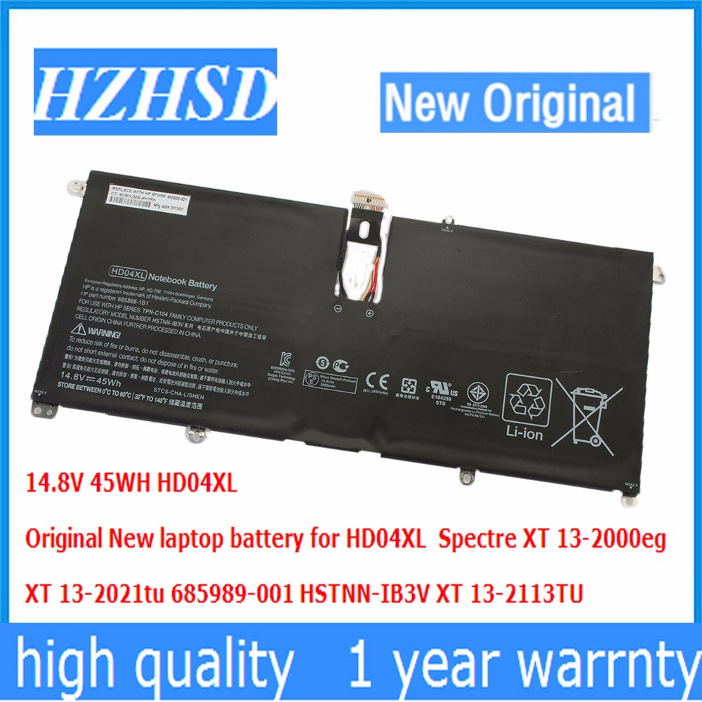 14.8V 45WH HD04XL Original New HD04XL laptop battery for Spectre XT 13-2000eg XT 13-2021tu 685989-001 HSTNN-IB3V XT 13-2113T
