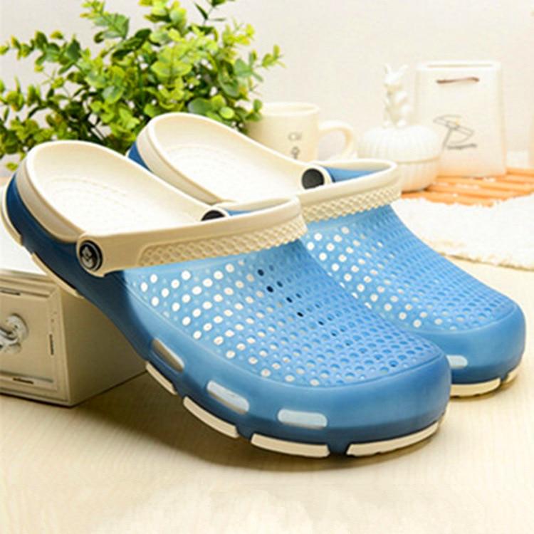 Women s Men s Beach Sandals Outdoor Summer Sea Aqua Shoes Wading Sneaker  Gardon Croc Hollow Water Quick Drying Walk Lovers 04ee9ffe09