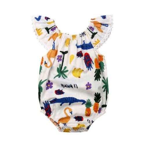 Новый Модный комбинезон для новорожденных девочек 1 шт. хлопковый без рукавов с