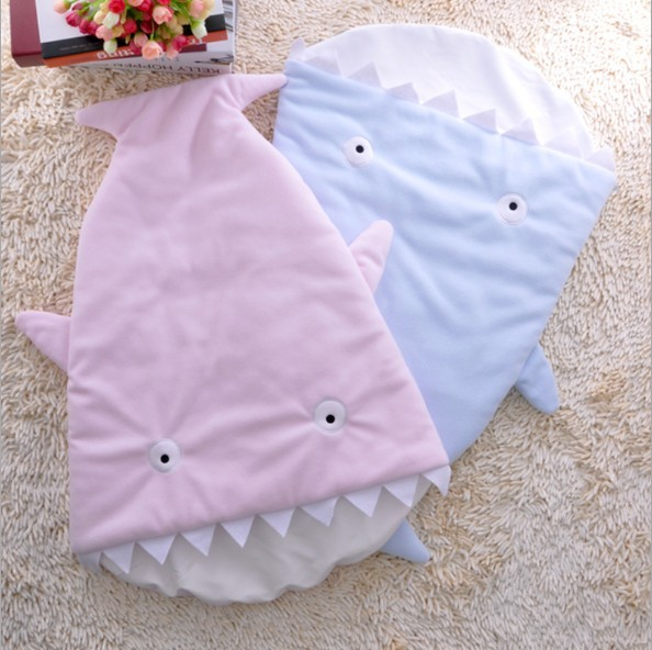 Free shipping Newborn shark sleeping bags baby sleeping bag for autumn & winter cute cotton sleeping bag retail